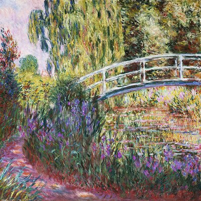 'The Japanese Bridge' by Claude Monet Painting Print on Wrapped Canvas