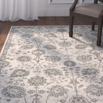 Appleridge Oatmeal/Teal Area Rug Rug Size: Round 710