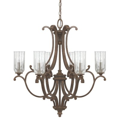 Chancery 6 Light Candle-Style Chandelier