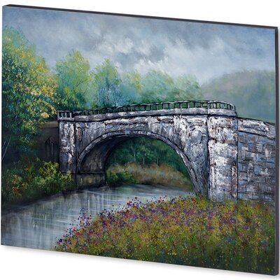 Bridge Rock Framed Original Painting on Wrapped Canvas