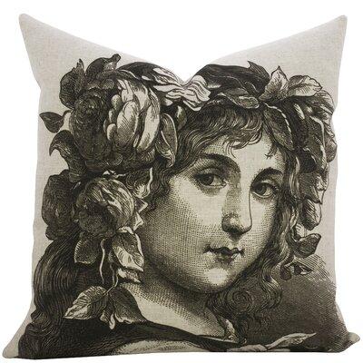 Highgate Girl Portrait Linen Throw Pillow