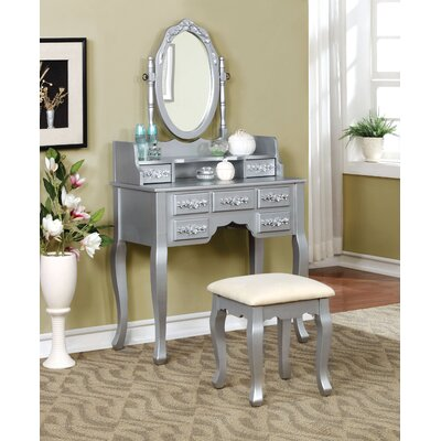 Claphurn Vanity & Mirror Set