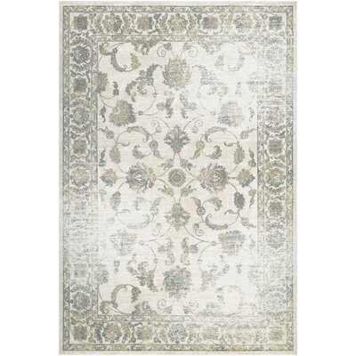 Hyde Botanic Applique Dew/Gray Area Rug Rug Size: 3'7