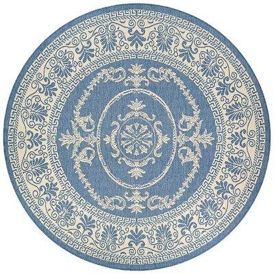 Highbury Blue Indoor/Outdoor Area Rug Rug Size: Round 8'6