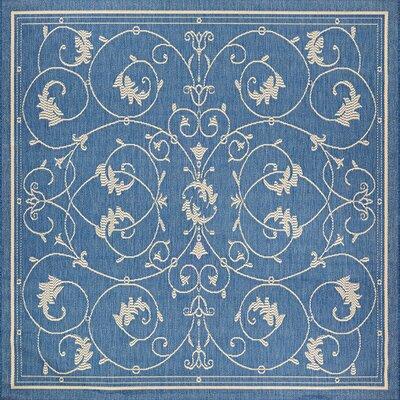 Highbury Blue Indoor/Outdoor Area Rug Rug Size: Square 7'6