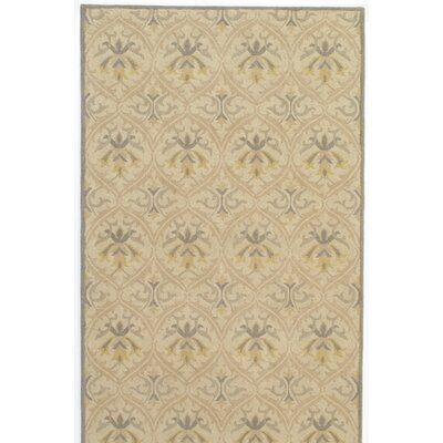 Suzanne Hand-Tufted Beige Area Rug Rug Size: 5 x 8