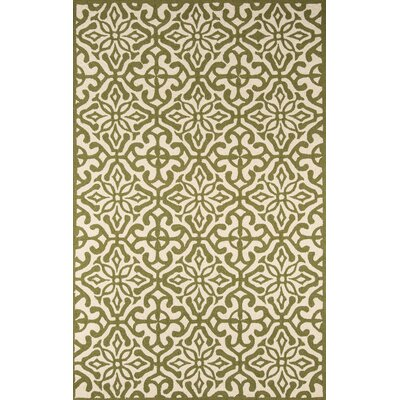 Peyton Hand-Hooked Green Outdoor Area Rug Rug Size: Rectangle 8 x 10
