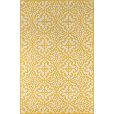 Peyton Yellow/White Outdoor Area Rug Rug Size: 5 x 8