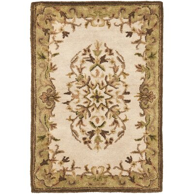 Taylor Hand-Tufted Beige Area Rug Rug Size: Rectangle 4 x 6