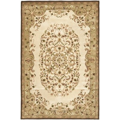 Taylor Hand-Tufted Beige Area Rug Rug Size: Rectangle 5 x 8