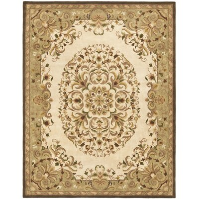 Taylor Beige/Green Area Rug Rug Size: 96 x 136