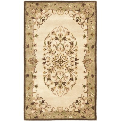 Taylor Beige/Green Area Rug Rug Size: 3' x 5'