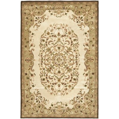 Taylor Beige/Green Area Rug Rug Size: 5 x 8