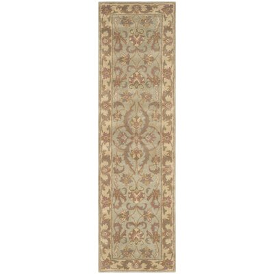 Taylor Hand-Tufted Wool Green/Beige Area Rug Rug Size: Runner 23 x 14