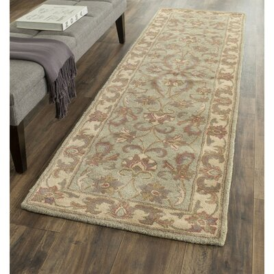 Taylor Green & Gold Area Rug Rug Size: Runner 23 x 16