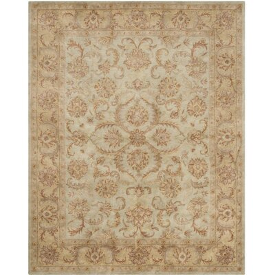 Taylor Hand-Tufted Wool Green/Beige Area Rug Rug Size: Rectangle 5 x 8