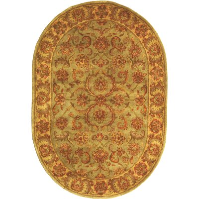 Taylor Hand-Tufted Wool Blue/Beige Area Rug Rug Size: Oval 46 x 66