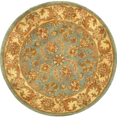 Taylor Hand-Tufted Wool Blue/Beige Area Rug Rug Size: Round 36