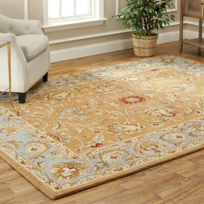 Taylor Brown & Blue Area Rug Rug Size: Oval 76 x 96