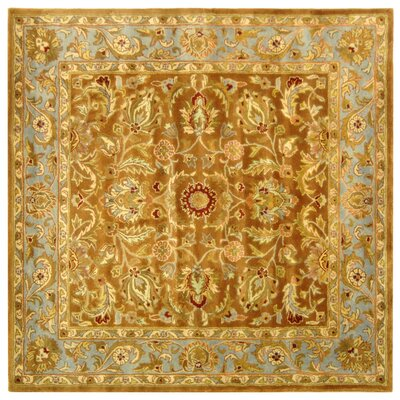 Taylor Brown & Blue Tufted Wool Area Rug Rug Size: Square 6
