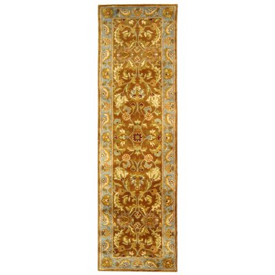 Taylor Brown & Blue Tufted Wool Area Rug Rug Size: Runner 23 x 16