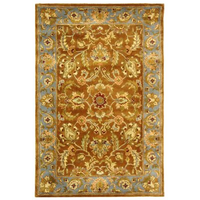 Taylor Brown & Blue Area Rug Rug Size: 4 x 6