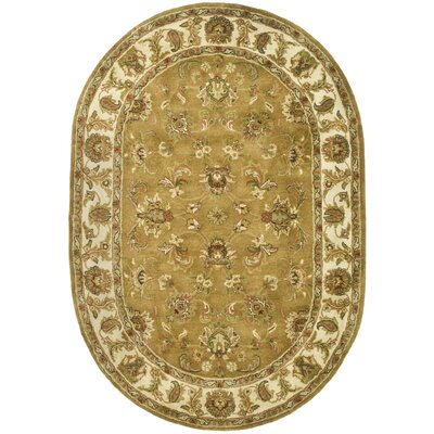 Taylor Green Area Rug Rug Size: Oval 46 x 66