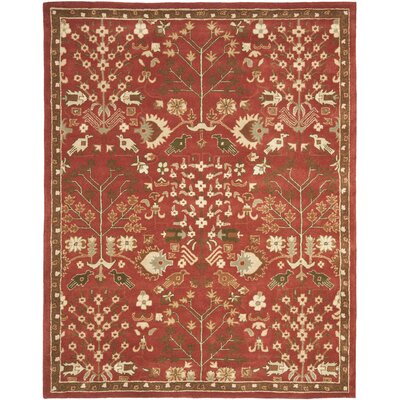 Theydon Red/Green Rug