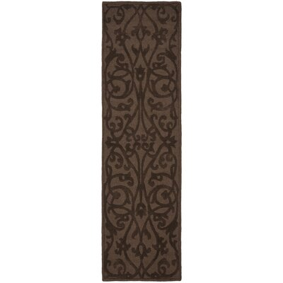 Babille Dark Brown Area Rug Rug Size: Runner 23 x 8