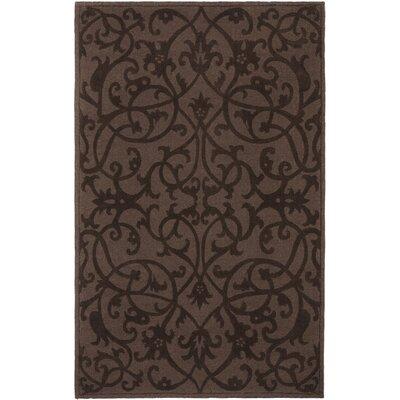 Babille Dark Brown Area Rug Rug Size: Rectangle 3 x 5