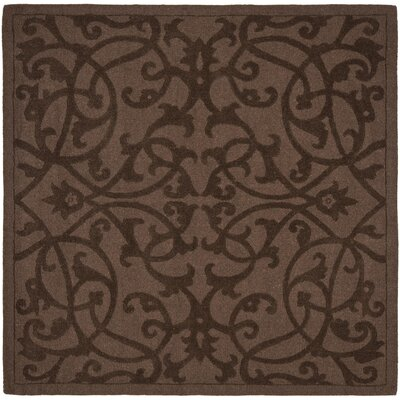 Babille Dark Brown Area Rug Rug Size: Square 6