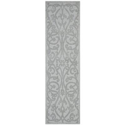Babille Modern Grey Area Rug Rug Size: Runner 23 x 8
