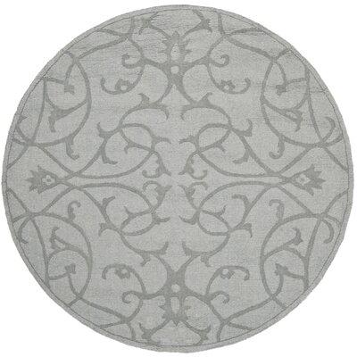 Babille Modern Grey Area Rug Rug Size: Round 5