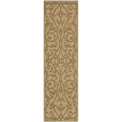 Palmwood Modern Light Brown Area Rug Rug Size: Runner 23 x 8