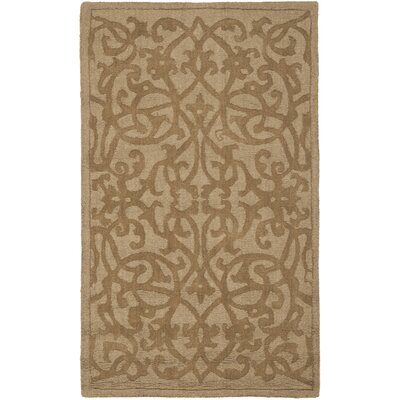 Palmwood Modern Light Brown Area Rug Rug Size: Rectangle 76 x 96