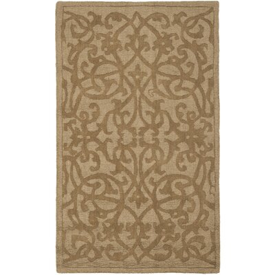 Palmwood Modern Light Brown Area Rug Rug Size: 76 x 96
