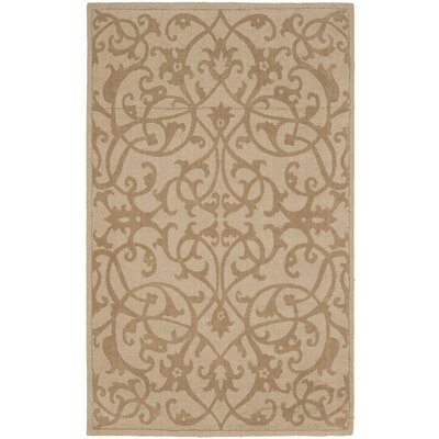 Palmwood Modern Light Brown Area Rug Rug Size: 5 x 8
