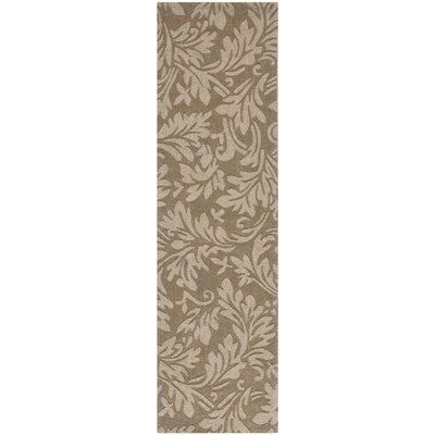 Palmwood Modern Brown/Gray Area Rug Rug Size: Runner 23 x 6