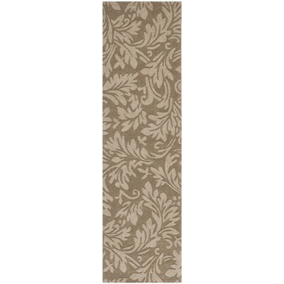 Palmwood Modern Brown/Gray Area Rug Rug Size: Runner 23 x 12