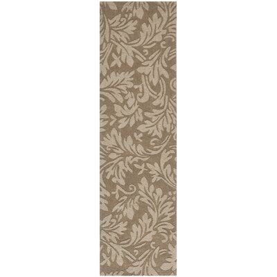 Palmwood Modern Brown/Gray Area Rug Rug Size: Runner 23 x 8
