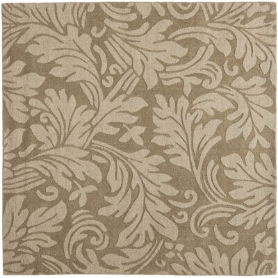 Palmwood Modern Brown/Gray Area Rug Rug Size: Square 6