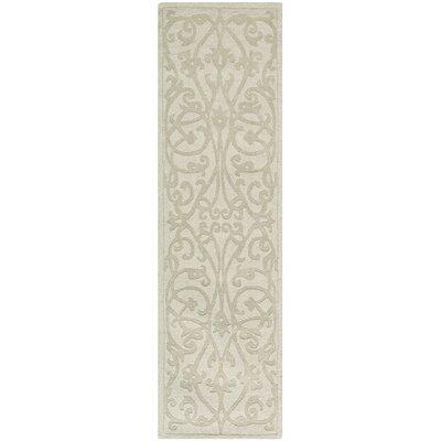 Palmwood Sage Beige/Gray Area Rug Rug Size: Runner 23 x 6
