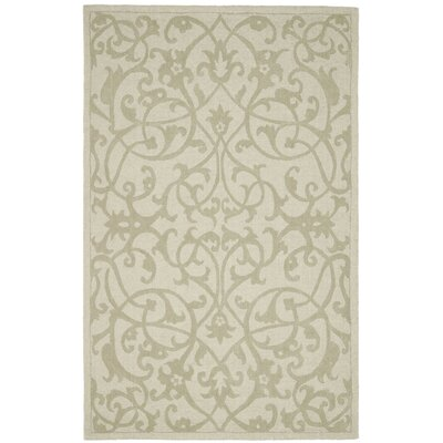 Palmwood Sage Beige/Gray Area Rug Rug Size: Rectangle 5 x 8