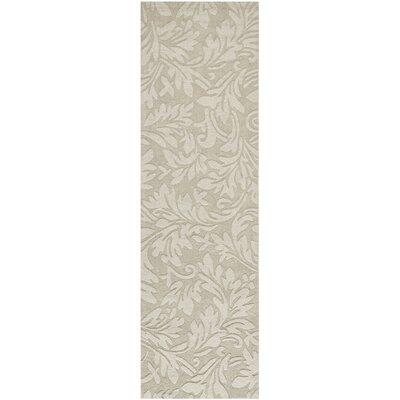 Palmwood Sage Beige/Gray Area Rug Rug Size: Runner 23 x 12