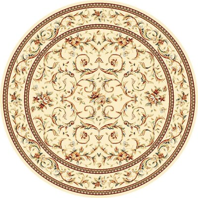 Taufner Ivory Area Rug Rug Size: Round 10