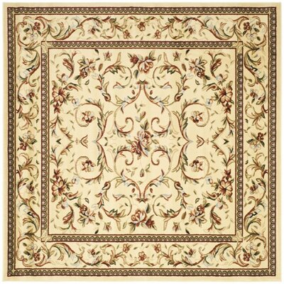 Taufner Ivory Area Rug Rug Size: Square 10