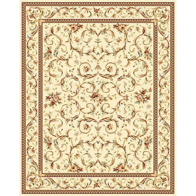 Taufner Ivory Area Rug Rug Size: 79 x 109