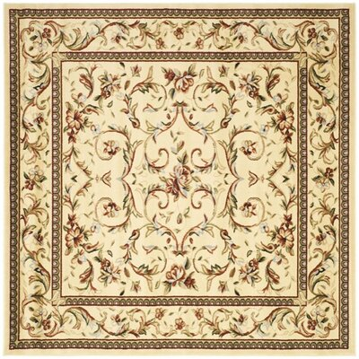 Markenfield Ivory Area Rug Rug Size: Square 6'