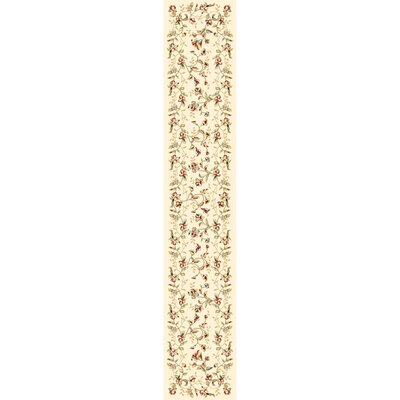 Taufner Ivory Area Rug Rug Size: Runner 23 x 14
