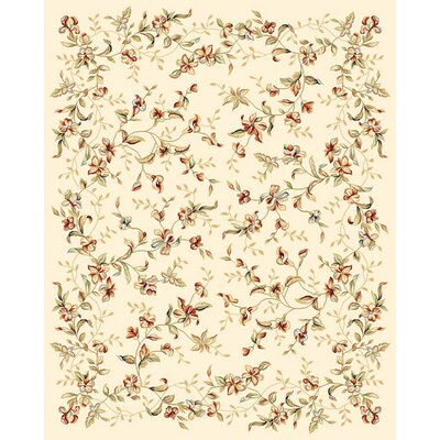 Taufner Ivory Area Rug Rug Size: Rectangle 79 x 109